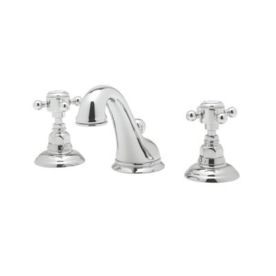 Rohl A1408XM-2 Country Bath Low Lead Widespread Bathroom Faucet with Pop-Up Drain and Metal Cross Handles