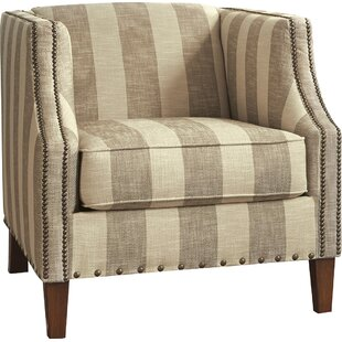 Darby Home Co Tallmadge Striped Armchair