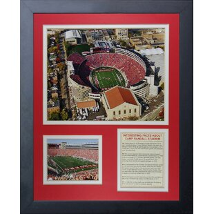 Wisconsin Badgers Camp Randall Stadium Framed Memorabilia by Legends Never Die