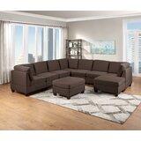 Deralin 116'' Wide Left Hand Facing Modular Sofa & Chaise with Ottoman by Latitude Run®