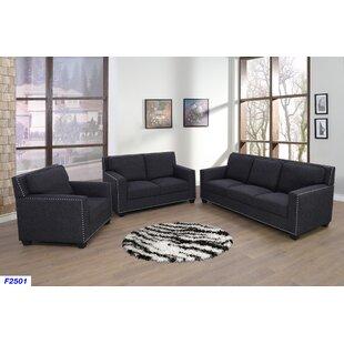 Katia 3 Piece Living Room Set