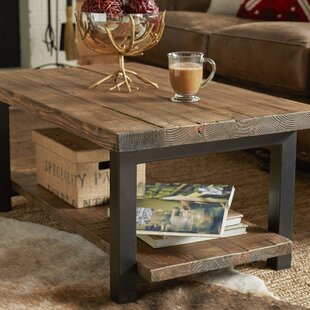 Veropeso 42 Wood/Metal Coffee Table with Tray Top