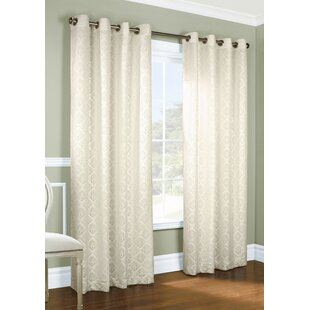 Renato Drumfane Geometric Room Darkening Grommet Curtain Panels (Set of 2) by Astoria Grand