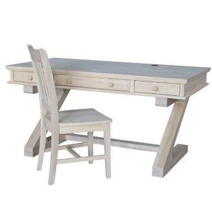 Alcott Hill Greensboro Writing Desk and Chair Set