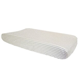 Best Reviews Towne Gray Dove Chevron Changing Pad Cover By Harriet Bee