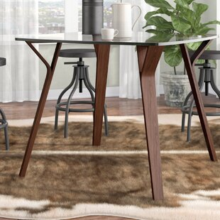 Thornton Mid-Century Modern Dining Table by Union Rustic Great price