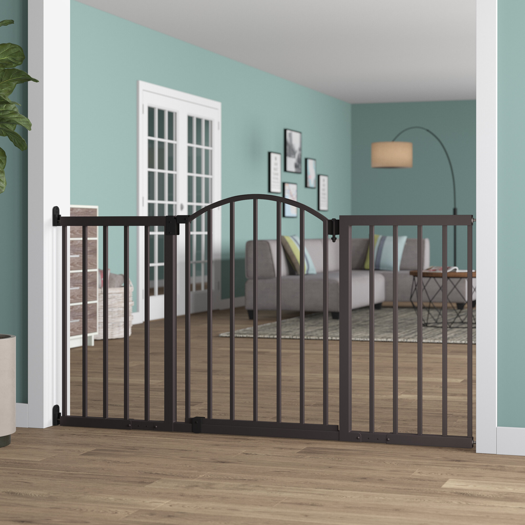Safety 1st Easy Install Extra Tall and Wide Baby Gate with Pressure Mount