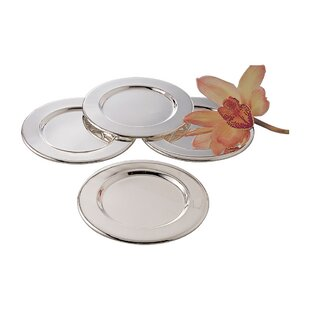 Silver Plated Round 4 Piece Decorative Plate Set  sc 1 st  Wayfair & Set Of 4 Decorative Plates | Wayfair