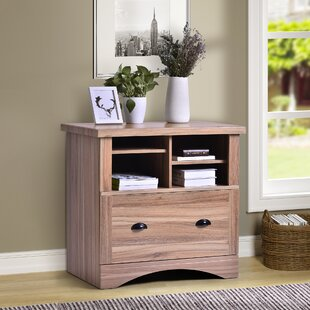 Aaliyah Wood 1 Drawer Lateral Filing Cabinet by Loon Peak