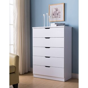 Lowall Utility 5 Drawer Dresser by Ebern Designs
