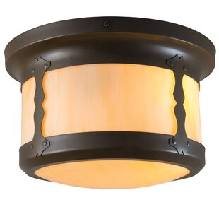 Check Prices Balboa 2-Light Outdoor Flush Mount By America's Finest Lighting Company