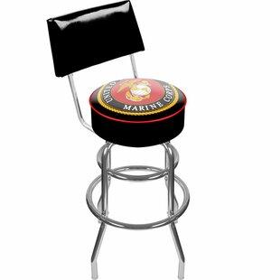 United States Marine Corps 31 Swivel Bar Stool Trademark Global