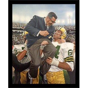 'Vince Lombardi Bay Packers' Print Poster by Darryl Vlasak Framed Memorabilia ByBuy Art For Less