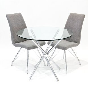 Franks Dining Set With 2 Madelina Chairs By Metro Lane