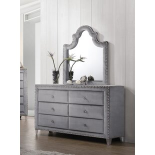 Rosdorf Park Spence 6 Drawer Dresser with Mi..