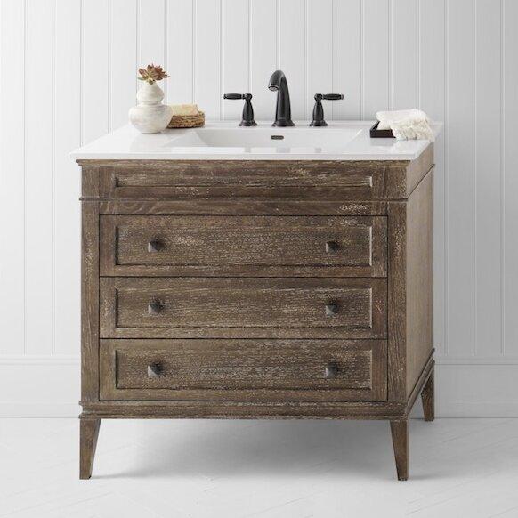 "36 Bathroom Vanity Custom Ronbow Laurel 36"" Single Bathroom Vanity Set & Reviews  Wayfair Inspiration Design"