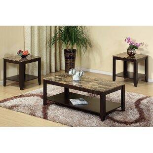 Winston Porter Feld 3 Piece Coffee Table Set