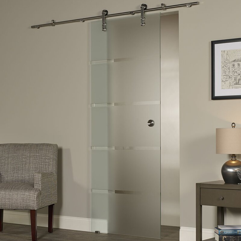 Charmant New Vision Contour Glass Interior Barn Door