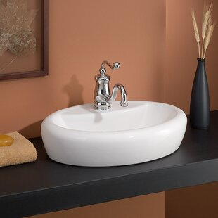 Compare & Buy Milano Vitreous China Oval Vessel Bathroom Sink ByCheviot Products