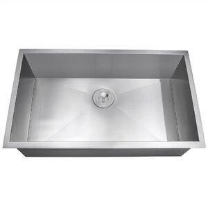 33 x 22 Undermount Kitchen Sink with Dish Grid and Drain Strainer Kit