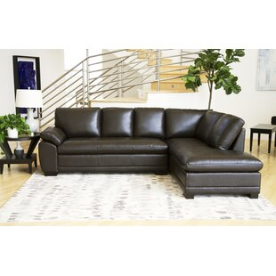 Barnard Leather Sectional by Darby Home Co
