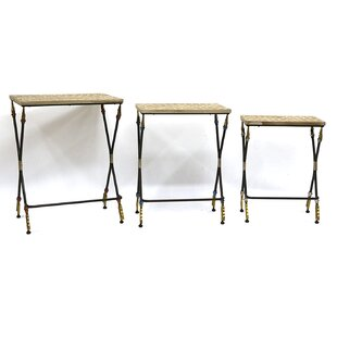 Wooden Folding 3 Piece End Table