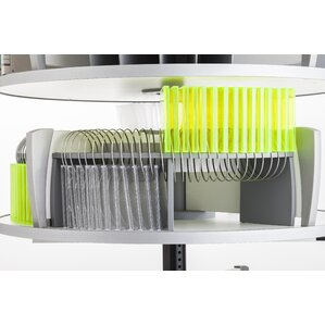 CD/DVD Organizer for Deluxe Binder & File Carousel Shelving by Moll