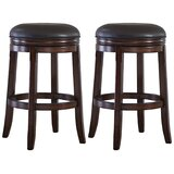Cruce Bar & Counter Swivel Stool (Set of 2) by Charlton Home®