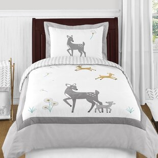 Sweet Jojo Designs Forest Deer Reversible Comforter Set