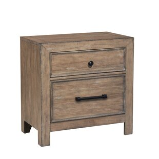 Fort Oglethorpe 2 Drawer Nightstand