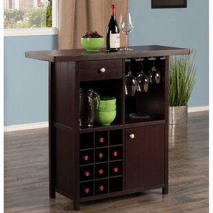 Zechariah Wine Bar Cabinet by Ebern Designs