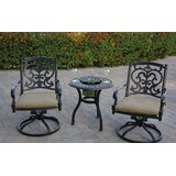 Baughman 3 Piece Bistro Set with Cushions