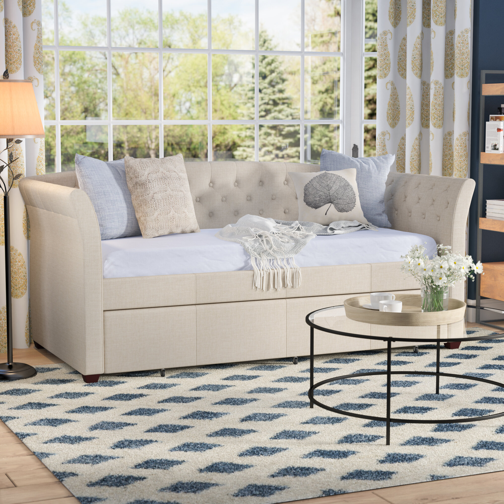 - Three Posts Milligan Twin Daybed With Trundle & Reviews Wayfair