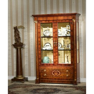 Antique Furniture Sensible Beautiful Antique Inlaid Mahogany Display Cabinet Be Friendly In Use Cabinets