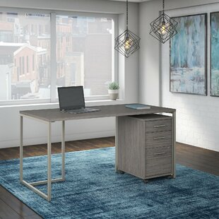 Method 2 Piece Rectangular Desk Office Suite by Kathy Ireland Office Bush Savings