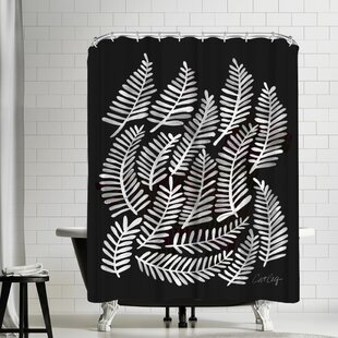 Cat Coquillette Fronds Shower Curtain