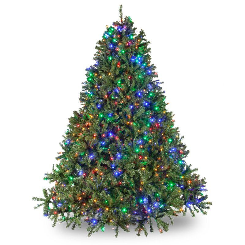 douglas 65 green fir tree artificial christmas tree with 500 multi colored lights