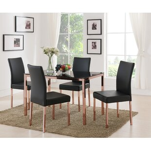 Heiden Metal Frame Glass Dining Table