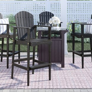 Lovina Solid Wood Adirondack Chair By Rosecliff Heights
