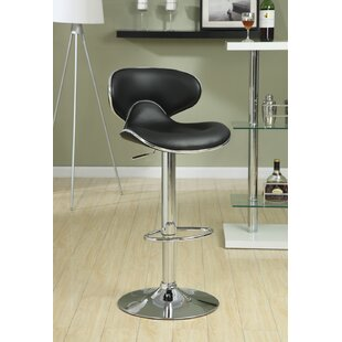 Adjustable Height Swivel Bar Stool Set of 2 by Wildon Home