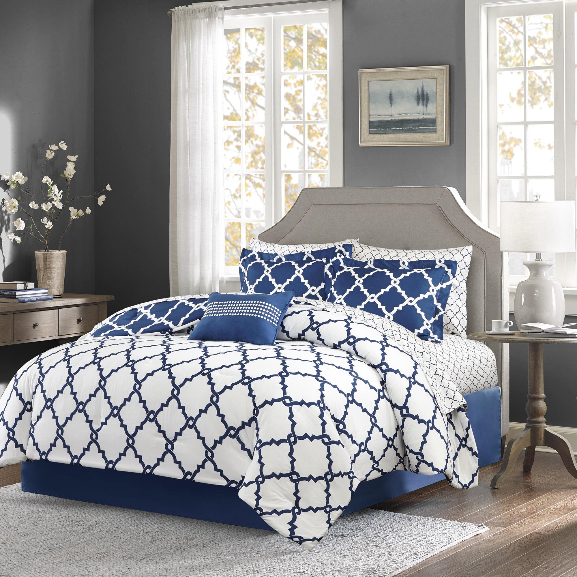 Willa Arlo Interiors Geometric 7 Piece Bed In A Bag Reversible Comforter Reviews Wayfair