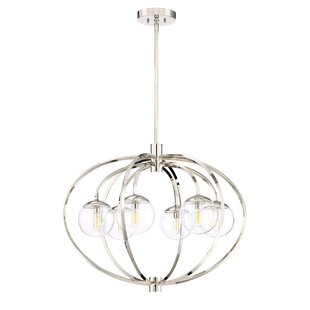 Mercury Row Bynoe 6-Light Globe Chandelier