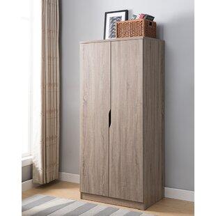 Latitude Run Carin Wooden Storage Cabinet Wardrobe Armoire
