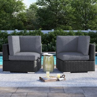 Crowley Wicker Outdoor Sectional Corner Chair with Cushion