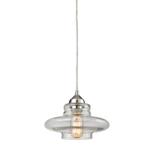 Toothman 1-Light Schoolhouse Pendant by Brayden Studio
