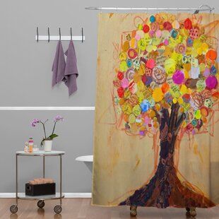 Elizabeth St Hilaire Nelson Summer Tree Single Shower Curtain