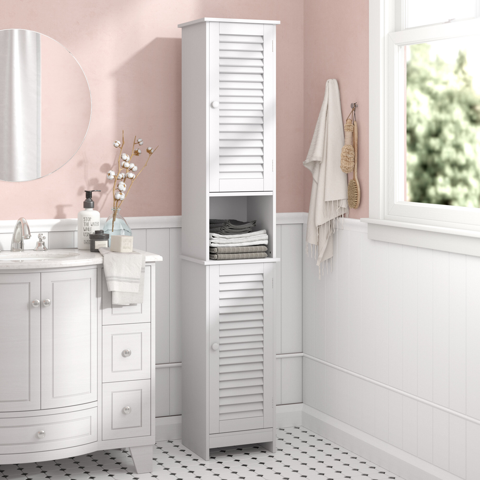 House Of Hampton 32 X 170cm Free Standing Tall Bathroom Cabinet Reviews Wayfair Co Uk