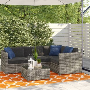 Carolyn 4 Seater Rattan Corner Sofa Set By Sol 72 Outdoor