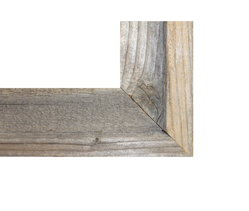 RusticDecor Reclaimed Barn Wood Open Picture Frame & Reviews | Wayfair