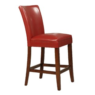 Doerr Traditional 24 Wood Framed Bar Stool (Set of 2) Charlton Home